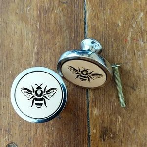 Honey Bee Drawer Knobs Pulls handmade set of 6